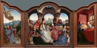 Quentin Masseys. Triptych: Altar of St. Anne