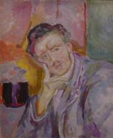 Эдвард Мунк. Автопортрет с рукой у щеки