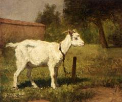 Генриетта Роннер-Книп. Коза в лугу