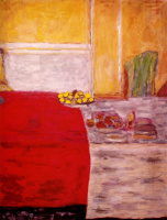 Пьер Боннар. Фрукты на красном ковре