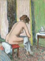 Федерико Дзандоменеги. Женщина за туалетом