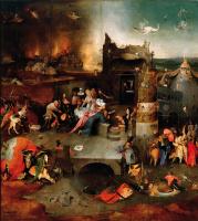 Иероним Босх. Искушение Святого Антония. Центральная часть триптиха