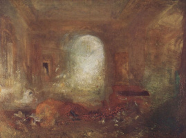 Joseph Mallord William Turner. The interior of the big house: the drawing room, castle East Cowes