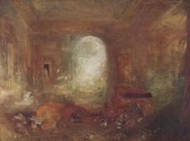 Джозеф Мэллорд Уильям Тёрнер. Интерьер большого дома: рисовальная комната, замок Ист-Каус