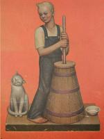 Грант Вуд. Ферма в Хилл. Мальчик с котом