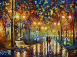 Leonid Afremov. The patter of the rain