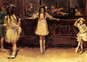 Исаак Исраэлс. Балетная школа в Лондоне