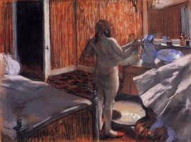 Эдгар Дега. Женщина, вытирающаяся после купания