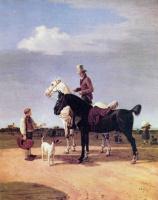 Вильгельм Александр Вольфганг фон Кобелль. Всадник с двумя лошадьми