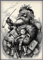 Томас Наст. 33 Счастливый старый Санта Клаус