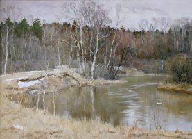 Борис Петрович Захаров. Весна на реке Воре.