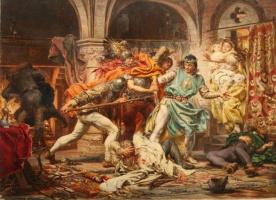 Ян Матейко. Смерть короля Пшемысла II