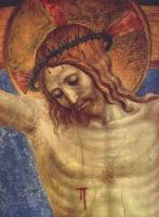 Фра Беато Анджелико. Распятие со святым Домеником, деталь