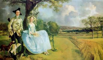 Thomas Gainsborough. Portrait of a couple Andrews