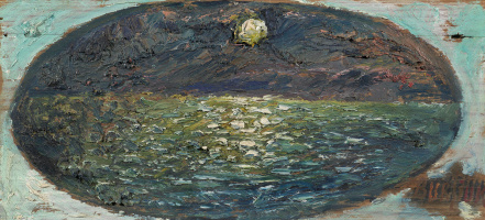 Давид Давидович Бурлюк. Морской пейзаж в лунном свете