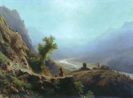 Лев Феликсович Лагорио. В горах Кавказа. 1879