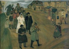 Marc Chagall. Russian wedding
