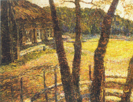 Vasily Vasilevich Pereplyotchikov. Landscape with a hut