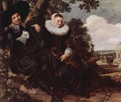 Франс Хальс. Портрет молодой пары