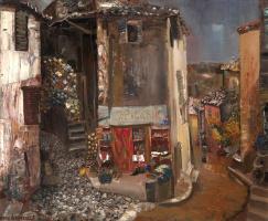 Борис Дмитриевич Григорьев. Бакалея в деревне. 1930