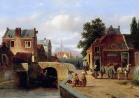 Якобус Адрианус Вролийк. Вид на Амстердам