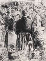 Камиль Писсарро. Рынок в Понтуазе
