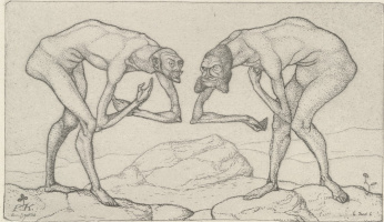 Paul Klee. Two Men Meet, Each Believing the Other to Be of Higher Rank