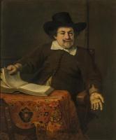 Фердинанд Балтасарс Боль. Портрет мужчины за столом с книгой