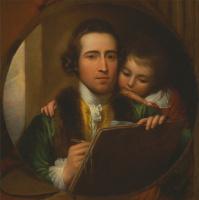 Бенджамин Уэст. Автопортрет с сыном Рафаэлем