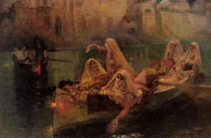 Фредерик Артур Бриджмен. Гаремные лодки