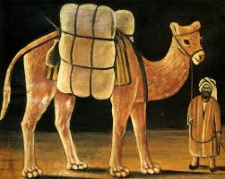 Нико Пиросмани (Пиросманашвили). Погонщик с верблюдом