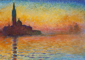 Claude Monet. San Giorgio Maggiore at dusk, Venice