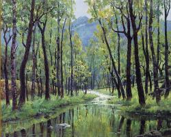 Цзян Хуэй. Ручей в лесу