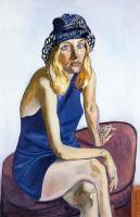 Девушка в синей шляпке