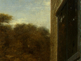 Питер де Хох. Голландский двор. Фрагмент