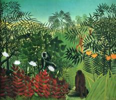 Анри Руссо. Тропический лес с обезьяной и змеей
