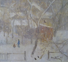 Tetyana Yablonska. The snow falls