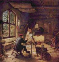 Адриан ван Остаде. Художник в своей мастерской