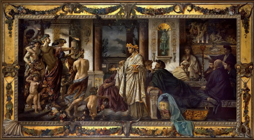Anselm Frederick Feuerbach. The Feast Of Plato