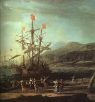 Клод Лоррен. Корабль у берега