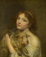 Жан-Батист Грёз. Девушка с ягненком