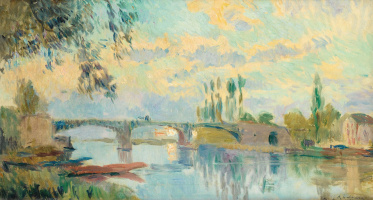 Albert Lebur. The bridge at Chatou