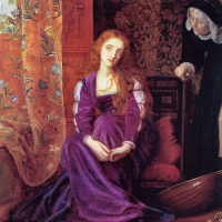 Arthur Hughes. It hurts the heart (Juliet and her nanny). Fragment