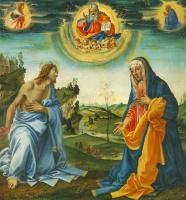 Филиппино Липпи. Выступление Христа и Марии