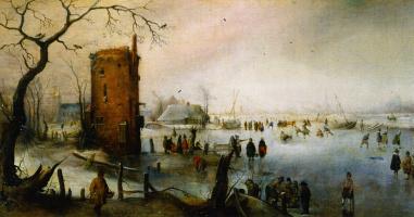 Хендрик Аверкамп. Зимний пейзаж с башней
