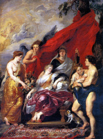 Peter Paul Rubens. The birth of Louis XIII