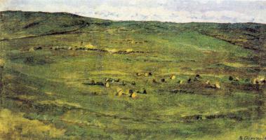 Vasily Ivanovich Surikov. A herd of horses in the steppe Babinskoe