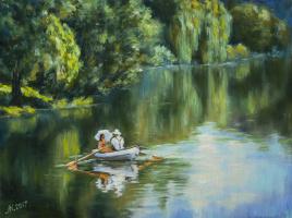 Мила Канеева. На озере в летнем парке
