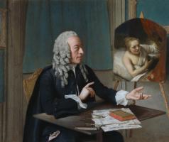Jean-Etienne Liotard. François Tronchin with Rembrandt