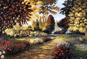 Дайан Хейст. Цветущие цветы в саду
